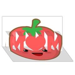 Kawaii Tomato Mom 3d Greeting Card (8x4)
