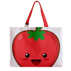 Kawaii Tomato Zipper Tiny Tote Bags by KawaiiKawaii