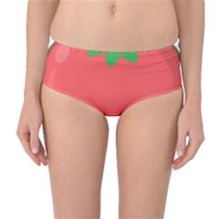 Kawaii Tomato Mid Waist Bikini Bottoms by KawaiiKawaii
