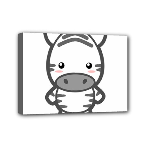 Kawaii Zebra Mini Canvas 7  X 5  by KawaiiKawaii