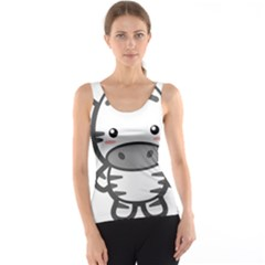 Kawaii Zebra Tank Tops by KawaiiKawaii