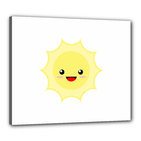 Kawaii Sun Canvas 24  X 20  by KawaiiKawaii
