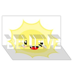 Kawaii Sun Believe 3d Greeting Card (8x4)