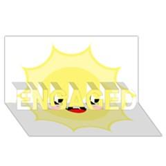 Kawaii Sun Engaged 3d Greeting Card (8x4)