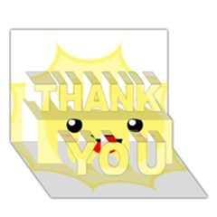 Kawaii Sun Thank You 3d Greeting Card (7x5)  by KawaiiKawaii