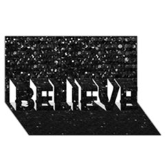Crystal Bling Strass G283 Believe 3d Greeting Card (8x4)  by MedusArt