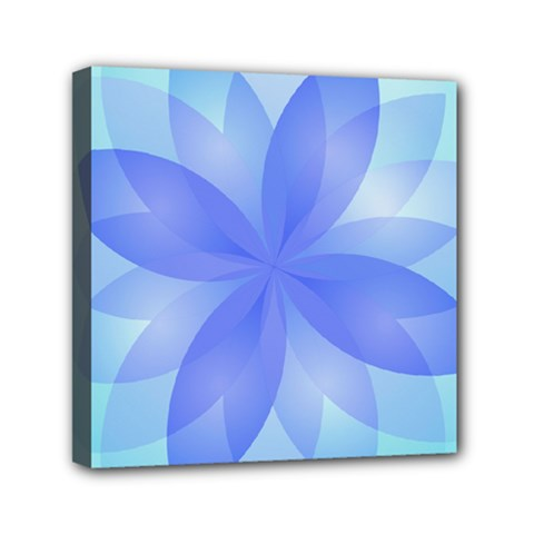 Abstract Lotus Flower 1 Mini Canvas 6  x 6  by MedusArt