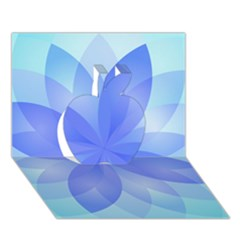 Abstract Lotus Flower 1 Apple 3d Greeting Card (7x5)  by MedusArt