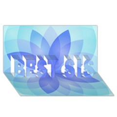 Abstract Lotus Flower 1 Best Sis 3d Greeting Card (8x4)  by MedusArt