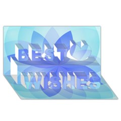 Abstract Lotus Flower 1 Best Wish 3d Greeting Card (8x4)  by MedusArt