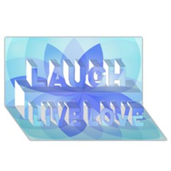 Abstract Lotus Flower 1 Laugh Live Love 3d Greeting Card (8x4)  by MedusArt