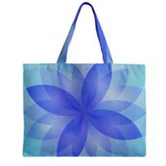 Abstract Lotus Flower 1 Zipper Tiny Tote Bags by MedusArt