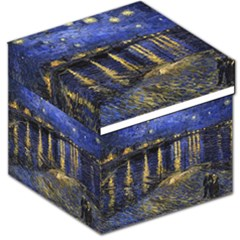 Vincent Van Gogh Starry Night Over The Rhone Storage Stool 12