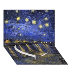 Vincent Van Gogh Starry Night Over The Rhone Heart Bottom 3d Greeting Card (7x5)  by MasterpiecesOfArt