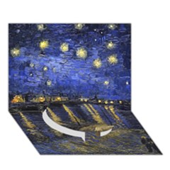 Vincent Van Gogh Starry Night Over The Rhone Circle Bottom 3d Greeting Card (7x5)  by MasterpiecesOfArt