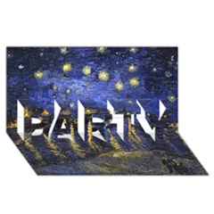 Vincent Van Gogh Starry Night Over The Rhone Party 3d Greeting Card (8x4)