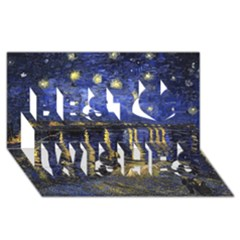 Vincent Van Gogh Starry Night Over The Rhone Best Wish 3d Greeting Card (8x4)