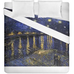 Vincent Van Gogh Starry Night Over The Rhone Duvet Cover (king Size) by MasterpiecesOfArt