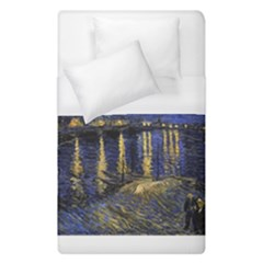 Vincent Van Gogh Starry Night Over The Rhone Duvet Cover Single Side (single Size) by MasterpiecesOfArt