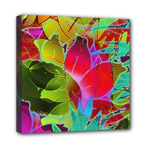 Floral Abstract 1 Mini Canvas 8  X 8  by MedusArt