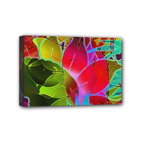 Floral Abstract 1 Mini Canvas 6  X 4  by MedusArt