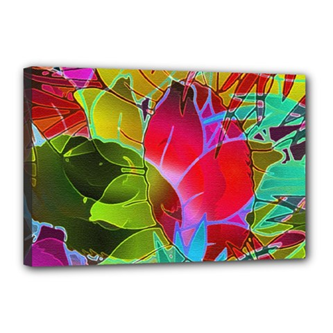 Floral Abstract 1 Canvas 18  X 12  by MedusArt