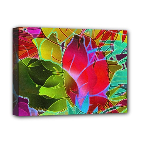 Floral Abstract 1 Deluxe Canvas 16  X 12   by MedusArt