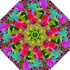Floral Abstract 1 Golf Umbrellas by MedusArt