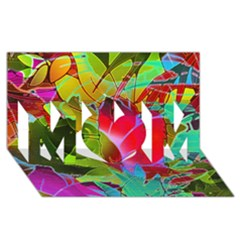Floral Abstract 1 Mom 3d Greeting Card (8x4)  by MedusArt