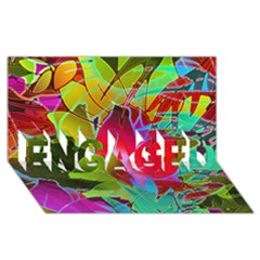 Floral Abstract 1 Engaged 3d Greeting Card (8x4)