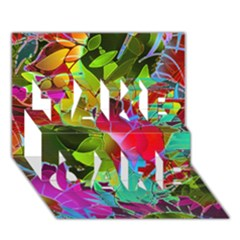 Floral Abstract 1 Take Care 3d Greeting Card (7x5)