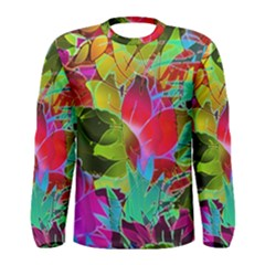 Floral Abstract 1 Men s Long Sleeve T Shirts by MedusArt