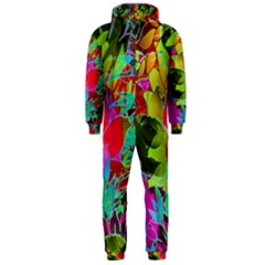 Floral Abstract 1 Hooded Jumpsuit (men)  by MedusArt