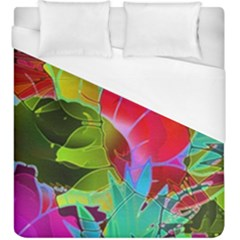 Floral Abstract 1 Duvet Cover Single Side (kingsize) by MedusArt