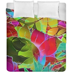 Floral Abstract 1 Duvet Cover (double Size) by MedusArt