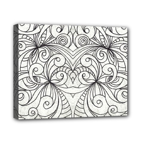 Drawing Floral Doodle 1 Canvas 10  X 8  by MedusArt