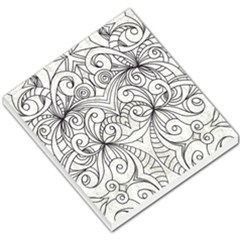 Drawing Floral Doodle 1 Small Memo Pads by MedusArt