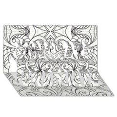 Drawing Floral Doodle 1 Congrats Graduate 3d Greeting Card (8x4)  by MedusArt
