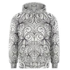 Drawing Floral Doodle 1 Men s Zipper Hoodies by MedusArt