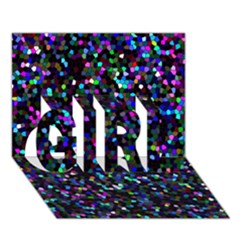 Glitter 1 Girl 3d Greeting Card (7x5)  by MedusArt