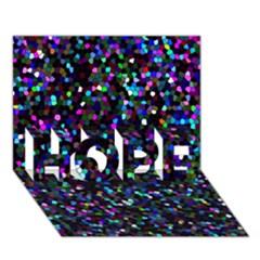Glitter 1 Hope 3d Greeting Card (7x5)
