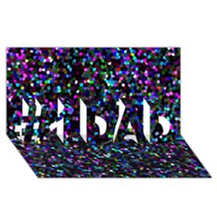 Glitter 1 #1 Dad 3d Greeting Card (8x4)  by MedusArt