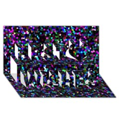 Glitter 1 Best Wish 3d Greeting Card (8x4)  by MedusArt