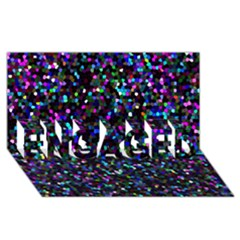Glitter 1 Engaged 3d Greeting Card (8x4)  by MedusArt