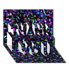 Glitter 1 Thank You 3d Greeting Card (7x5)  by MedusArt