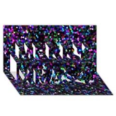 Glitter 1 Merry Xmas 3d Greeting Card (8x4)  by MedusArt