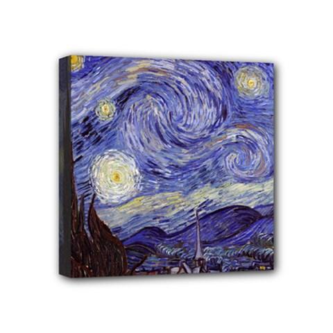 Van Gogh Starry Night Mini Canvas 4  X 4
