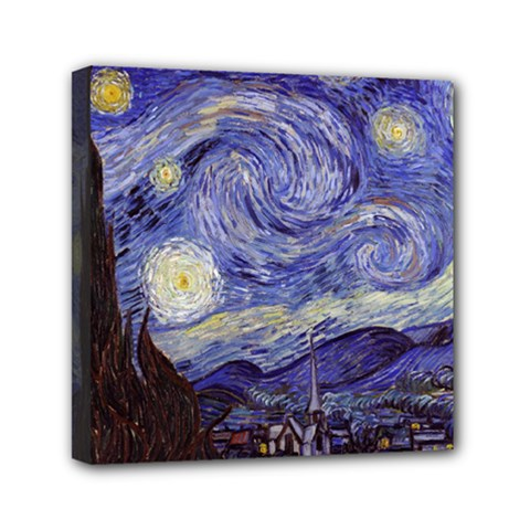 Van Gogh Starry Night Mini Canvas 6  x 6  by MasterpiecesOfArt