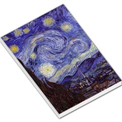 Van Gogh Starry Night Large Memo Pads by MasterpiecesOfArt