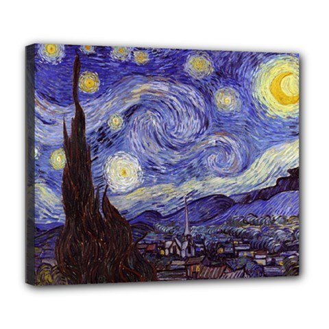 Van Gogh Starry Night Deluxe Canvas 24  X 20   by MasterpiecesOfArt